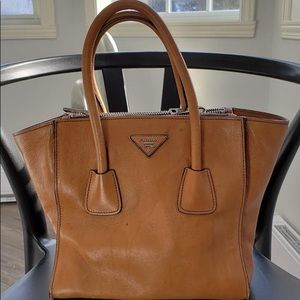 Prada (authentic) - Brown Leather Tote Bag/Purse